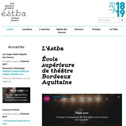 Théâtre National de Bordeaux en Aquitaine - TnBA