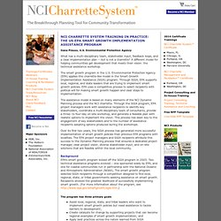 NCI Charrette System Training in Practice