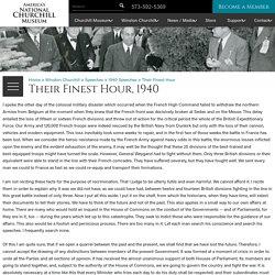Winston Churchill's Their Finest Hour Speech