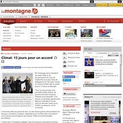 National - Climat: 13 jours pour un accord