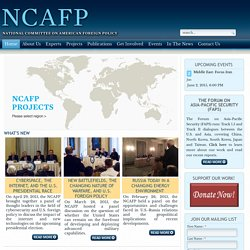 Home - NCAFP :: National Committee on American Foreign Policy