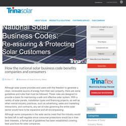 How the national solar business code benefits companies and consumers