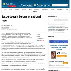 Battle doesn't belong at national level