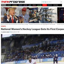 National Women's Hockey League Gets Its First Corporate Sponsor
