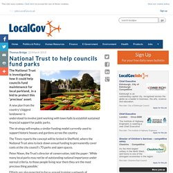 National Trust to help councils fund parks - LocalGov