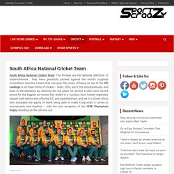 South Africa National Cricket Team - SportzCraazy