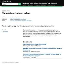 Review of the National Curriculum in England