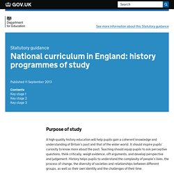 National curriculum in England: history programmes of study