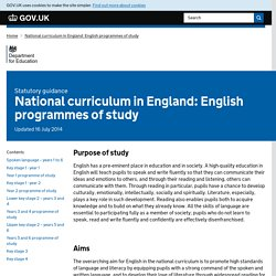 National curriculum in England: English programmes of study