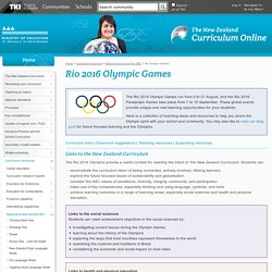 Rio Olympic Games / National events and the NZC / Curriculum resources