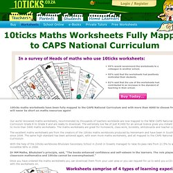 Maths National Curriculum Worksheets.