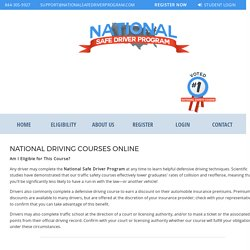National Safe Defensive Driving Course and Classes Online in USA