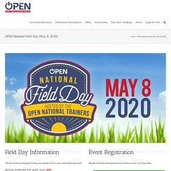 OPEN National Field Day (May 8, 2020) - OPEN Physical Education Curriculum