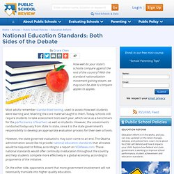 National Education Standards: Both Sides of the Debate