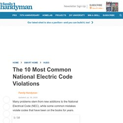 The 10 Most Common National Electric Code Violations