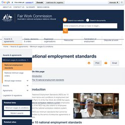 National employment standards