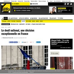 Le deuil national, une décision exceptionnelle en France