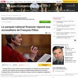 Leparquet national financier répond aux accusations de François Fillon