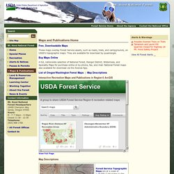 Hood National Forest - Maps & Publications