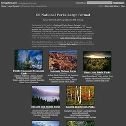 US National Parks Large Format - Large format photography - stock photos