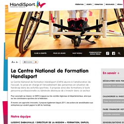 Le Centre National de Formation Handisport