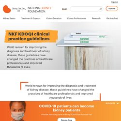 The National Kidney Foundation Kidney Disease Outcomes Quality Initiative (NKF KDOQI ) - The National Kidney Foundation