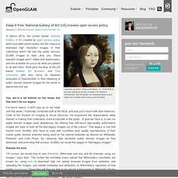 Keep it free: National Gallery of Art (US) creates open access policy