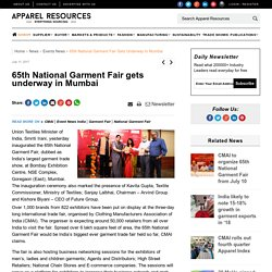 65th National Garment Fair gets underway in Mumbai