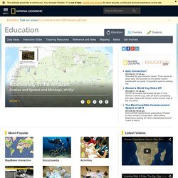 National Geographic Education - National Geographic Education