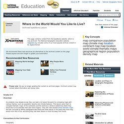 Lesson Plans - Xpeditions @ nationalgeographic.com
