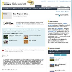 Lesson Plans - Two Ancient Cities