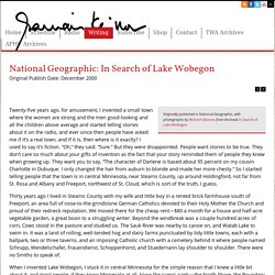 National Geographic: In Search of Lake Wobegon