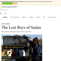 The Lost Boys of Sudan - National Geographic Society