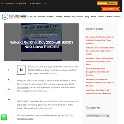 National Girl Child Day 2020 with SERUDS NGO & Save The Child - Seruds