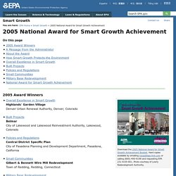 2005 National Award for Smart Growth Achievement