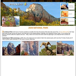 Zion National Park - Travel Information Directory Guide