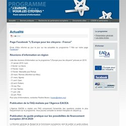 Point national d'information - Programme l'Europe pour les citoyens