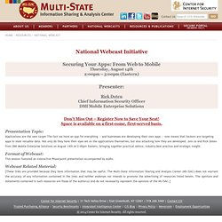 National Webcast Initiative: Securing Your Apps: From Web to Mobile
