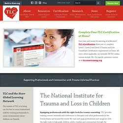 The National Institute for Trauma and Loss in Children