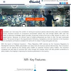 Open E-Insurance Account – Alankit Limited