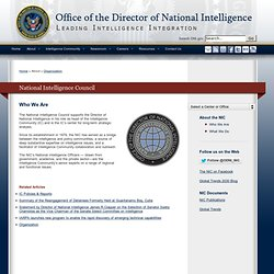 Welcome to the National Intelligence Council (NIC)