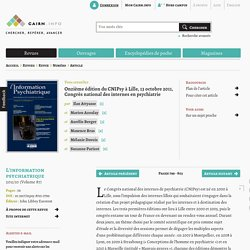 Onzième édition du CNIPsy à Lille, 13octobre2011, Congrès national des internes en psychiatrie