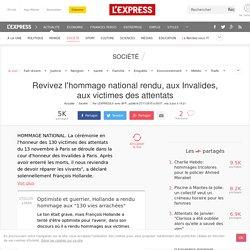 Revivez l'hommage national rendu, aux Invalides, aux victimes des attentats