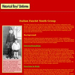 National youth groups : Italian fascists