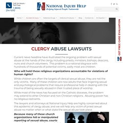 Priest Sexual Abuse Attorneys File Claims