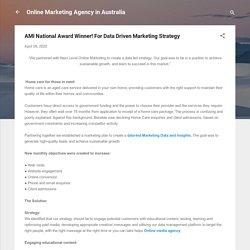AMI National Award Winner! For Data Driven Marketing Strategy