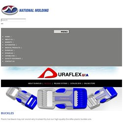 National Molding Custom Duraflex Platic Buckles