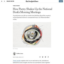 How Poetry Shakes Up the National Desk's Morning Meetings