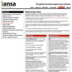 National gun laws | IANSA - the global movement against gun violence