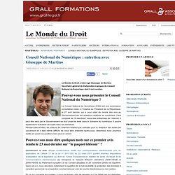 Conseil National du Numérique : entretien avec Giuseppe de Martino